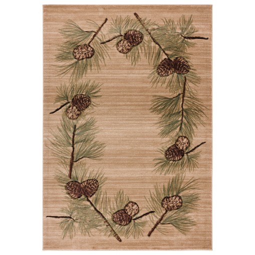 Cabin Cones On Branches Rug