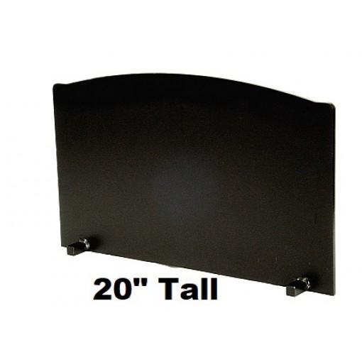 "3/4"" x 20"" Tall T-HDRF-7 Reflective Fireback 31"" Wide"