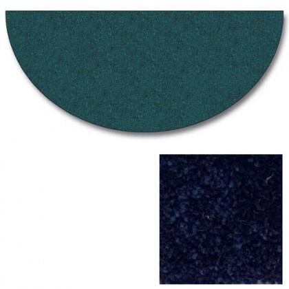 Polyester Half Round Midnite Blue Rugs