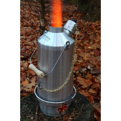 Bouilloires de camping Ghillie en aluminium à anodisation argentée