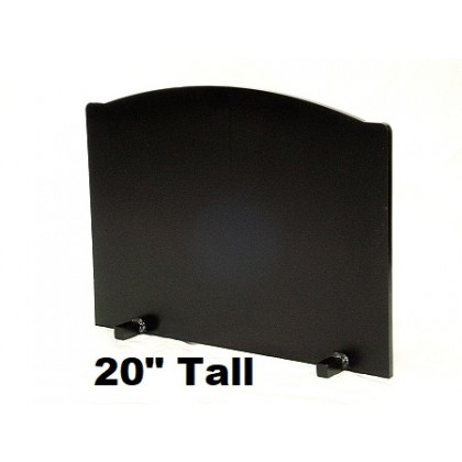"3/4"" x 20"" Tall T-HDRF-6 Reflective Fireback 26"" Wide"