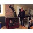rosa maiolica wood stove